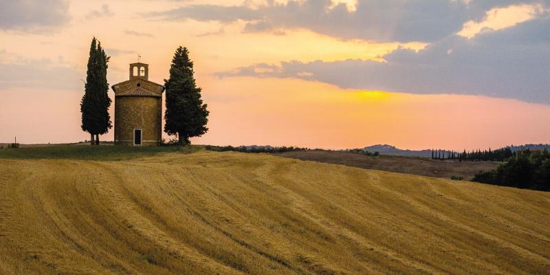 Immagine di una tipica vallata della Toscana