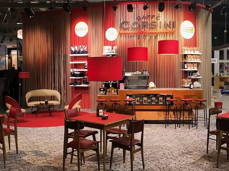 Ambientazioni retrò anni '50 e '60 per il Caffè Corsini