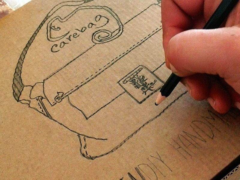 Progettazione borsa ecologica fai da te CareBag