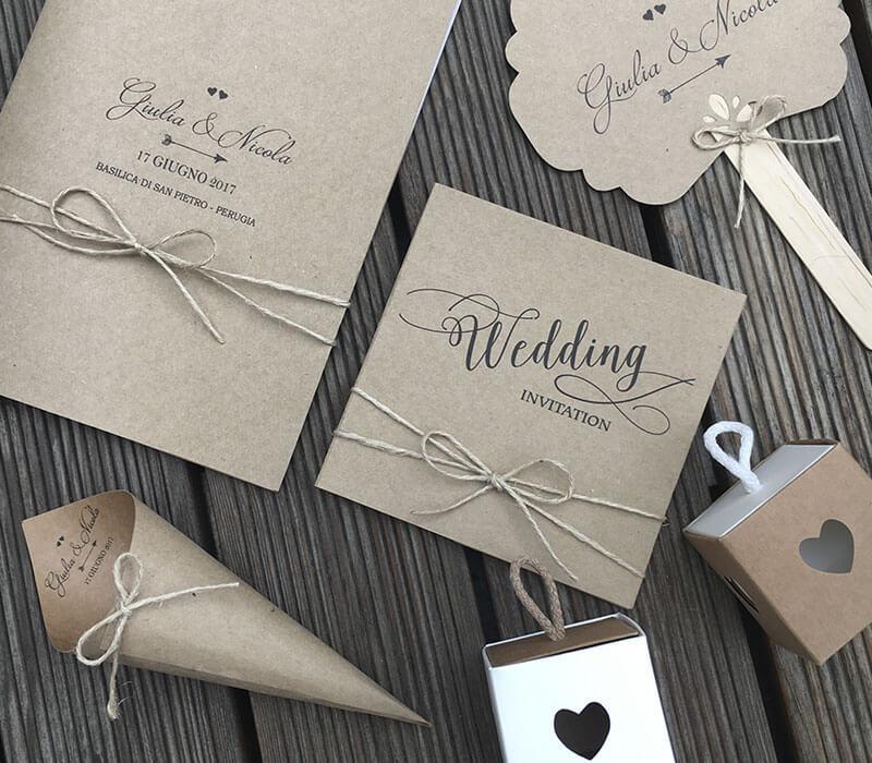 Wedding set creati a mano e personalizzati