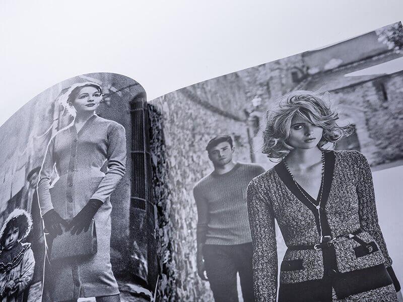 Foto bianco e nero catalogo Luisa Spagnoli