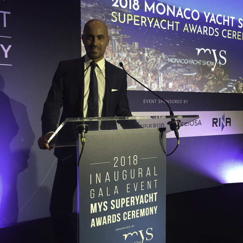 Carlo Timio Monaco Yacht Show Gala Awards Ceremony