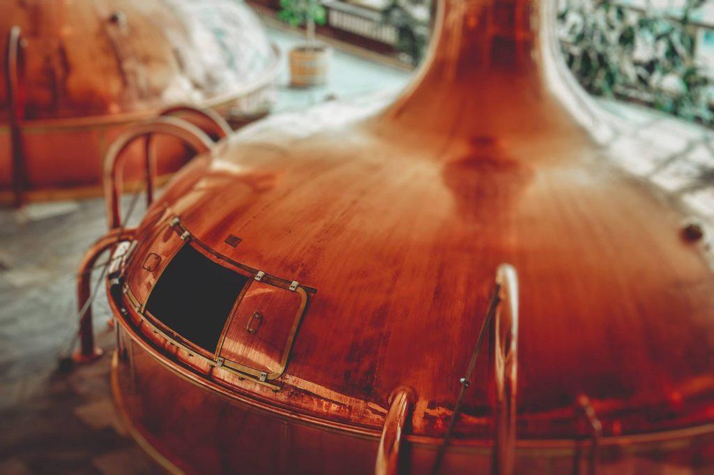 caldaia in rame per fare la birra